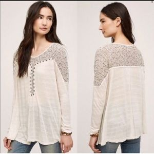 Anthropologie Meadow Rue Clorinde Beaded Top